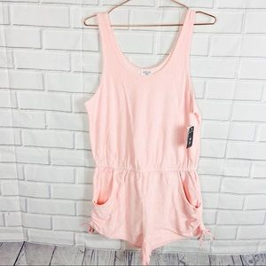 Empyre pink swimsuit romper coverup NEW